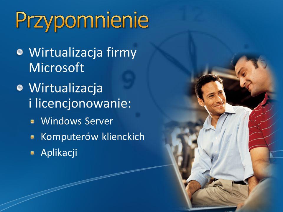 Przypomnienie Wirtualizacja firmy Microsoft