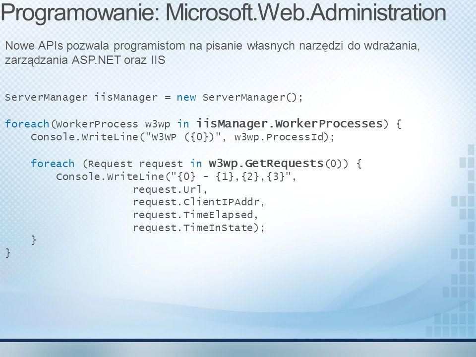 Programowanie: Microsoft.Web.Administration
