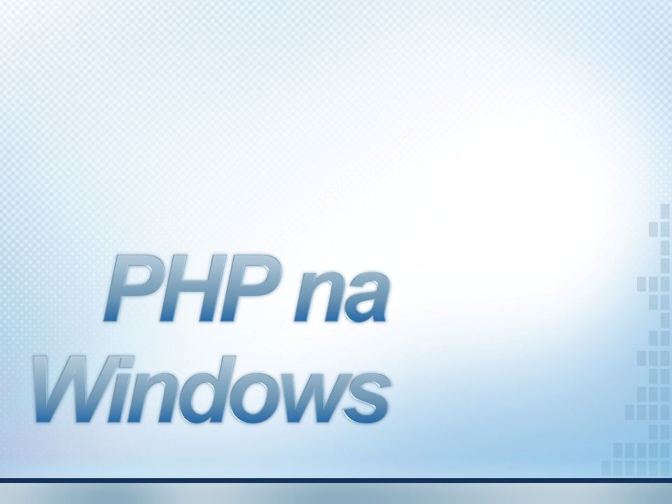 PHP na Windows