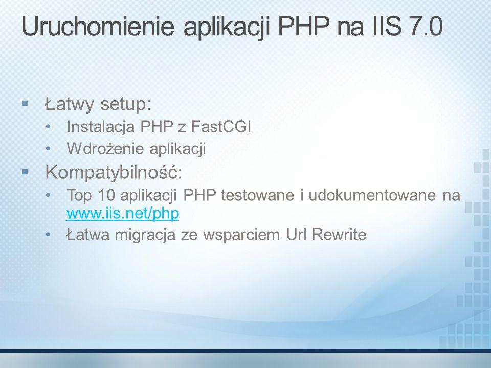 Uruchomienie aplikacji PHP na IIS 7.0
