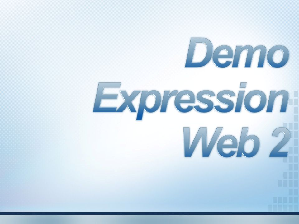 Demo Expression Web 2