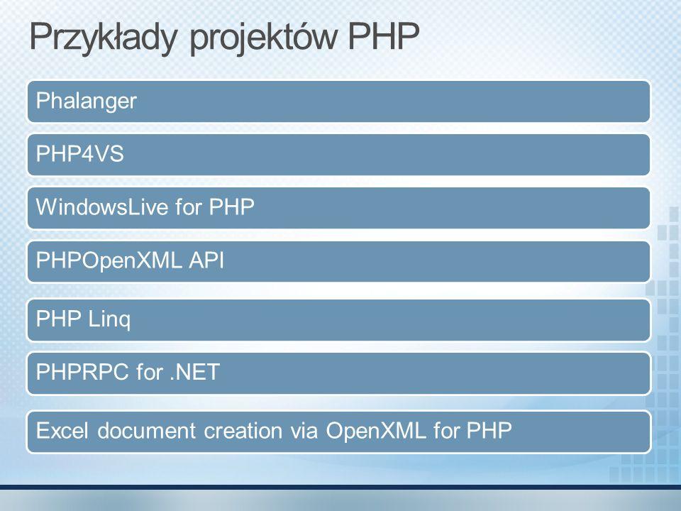 Przykłady projektów PHP