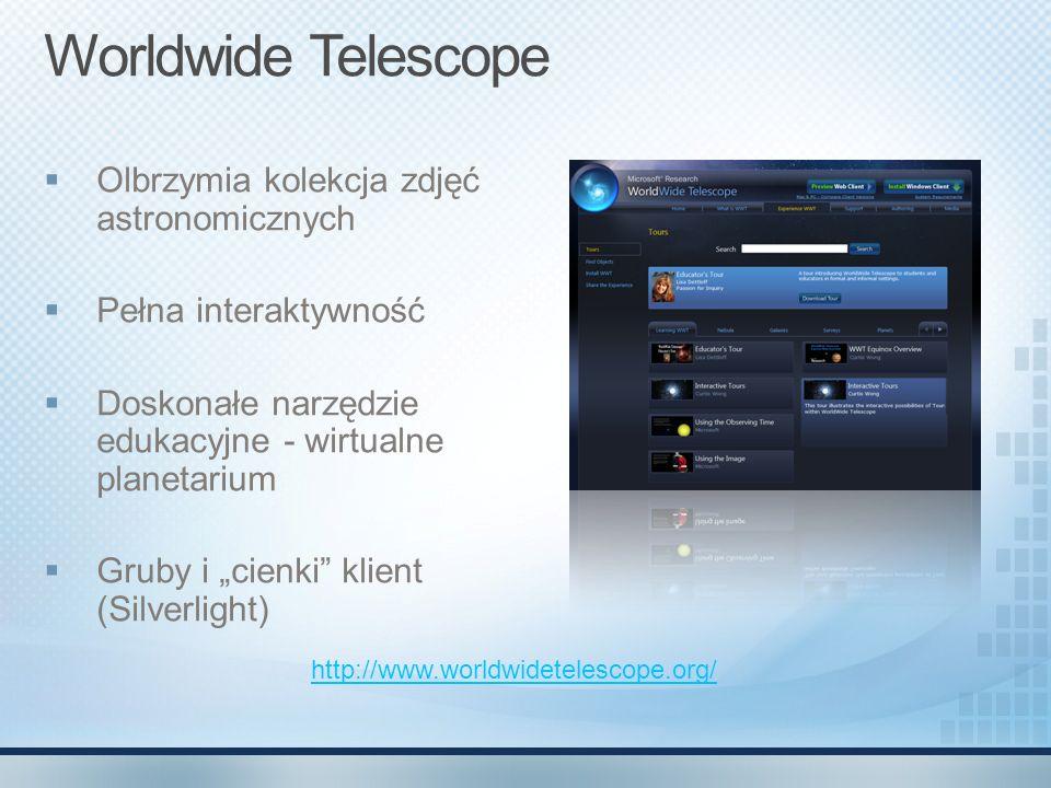 Worldwide Telescope Olbrzymia kolekcja zdjęć astronomicznych