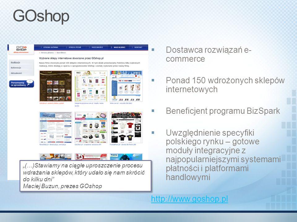 GOshop Dostawca rozwiązań e-commerce