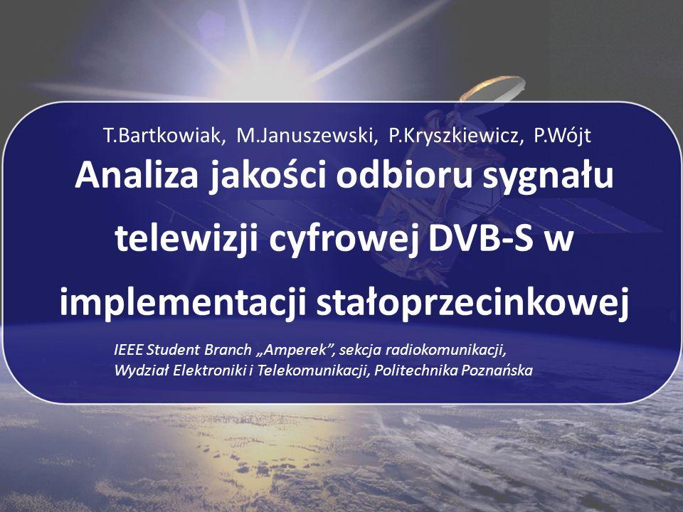 Analiza jakości odbioru sygnału telewizji cyfrowej DVB-S w implementacji stałoprzecinkowej