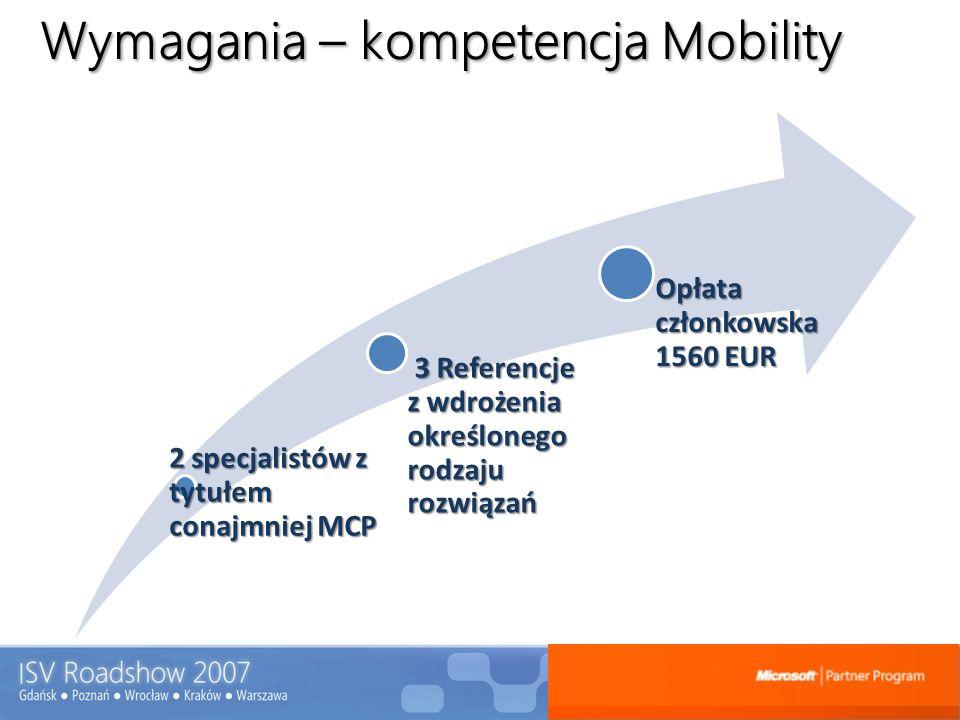 Wymagania – kompetencja Mobility