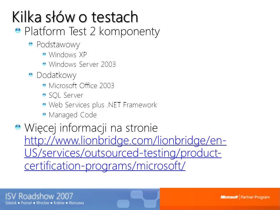Kilka słów o testach Platform Test 2 komponenty