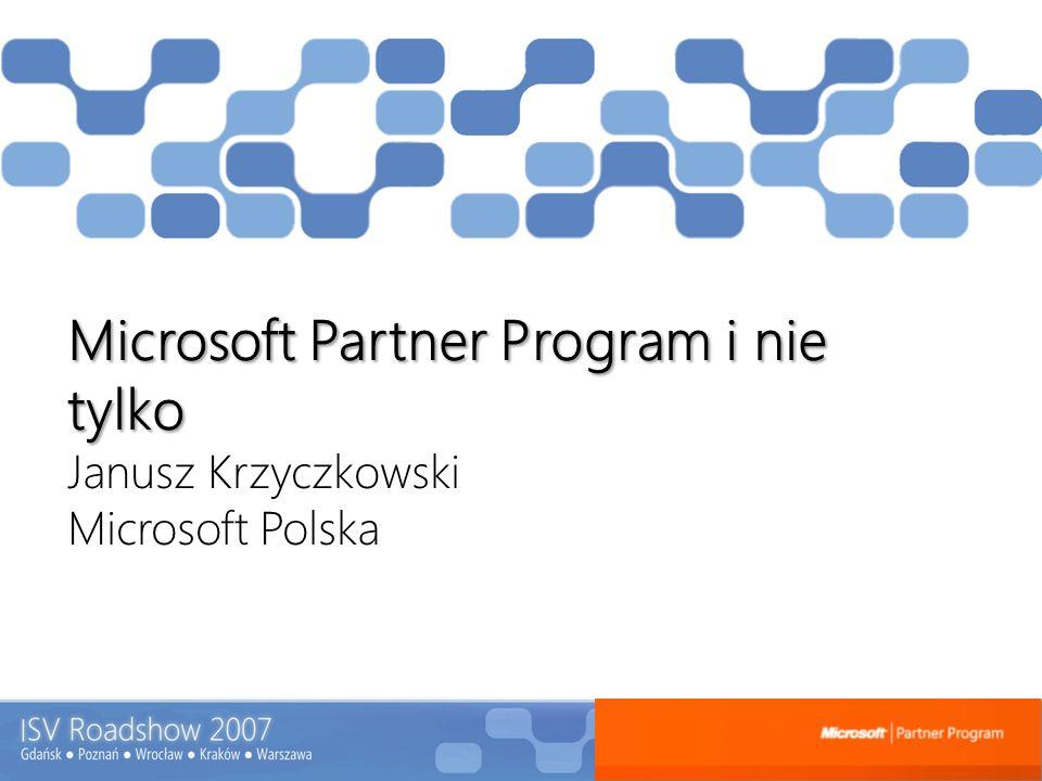 Microsoft Partner Program i nie tylko