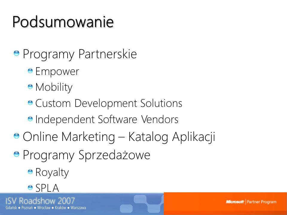 Podsumowanie Programy Partnerskie Online Marketing – Katalog Aplikacji