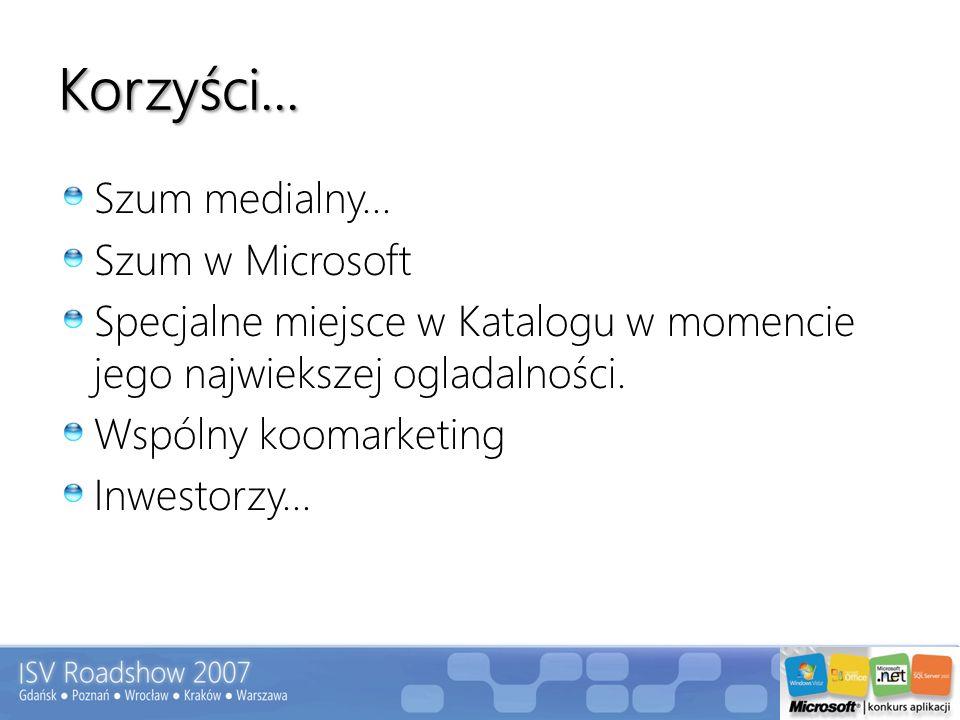 Korzyści... Szum medialny... Szum w Microsoft