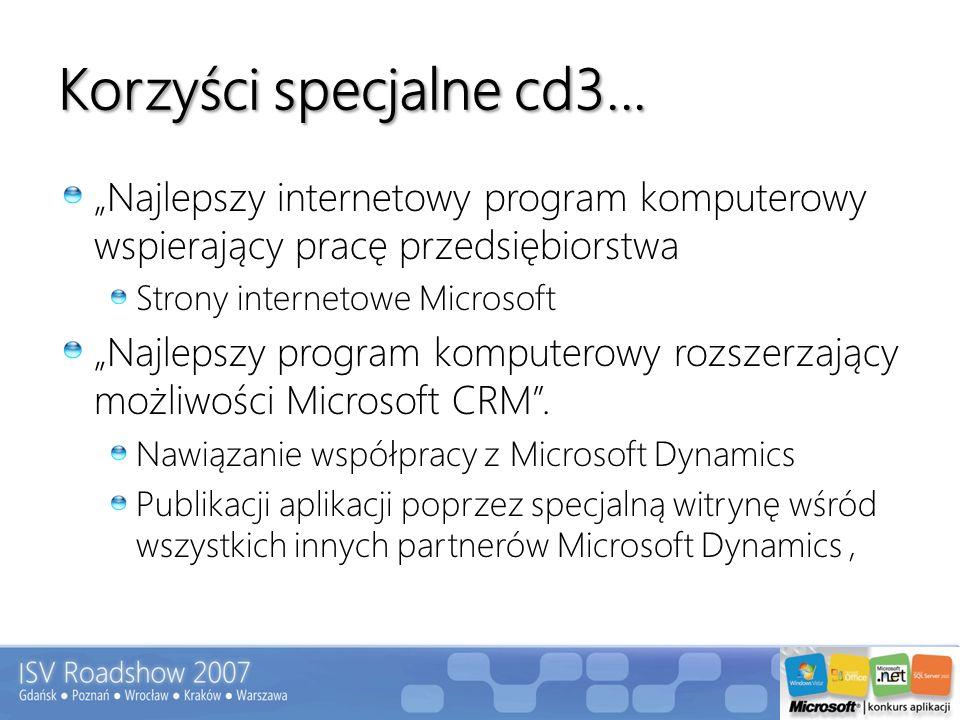 """Korzyści specjalne cd3... """"Najlepszy internetowy program komputerowy wspierający pracę przedsiębiorstwa."""