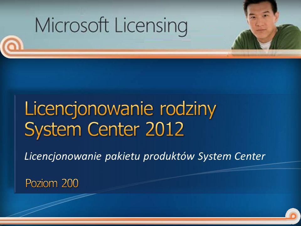 Licencjonowanie rodziny System Center 2012