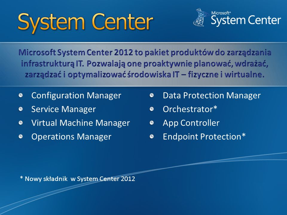 System Center Configuration Manager Service Manager