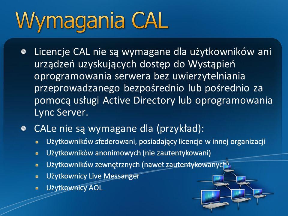 Wymagania CAL