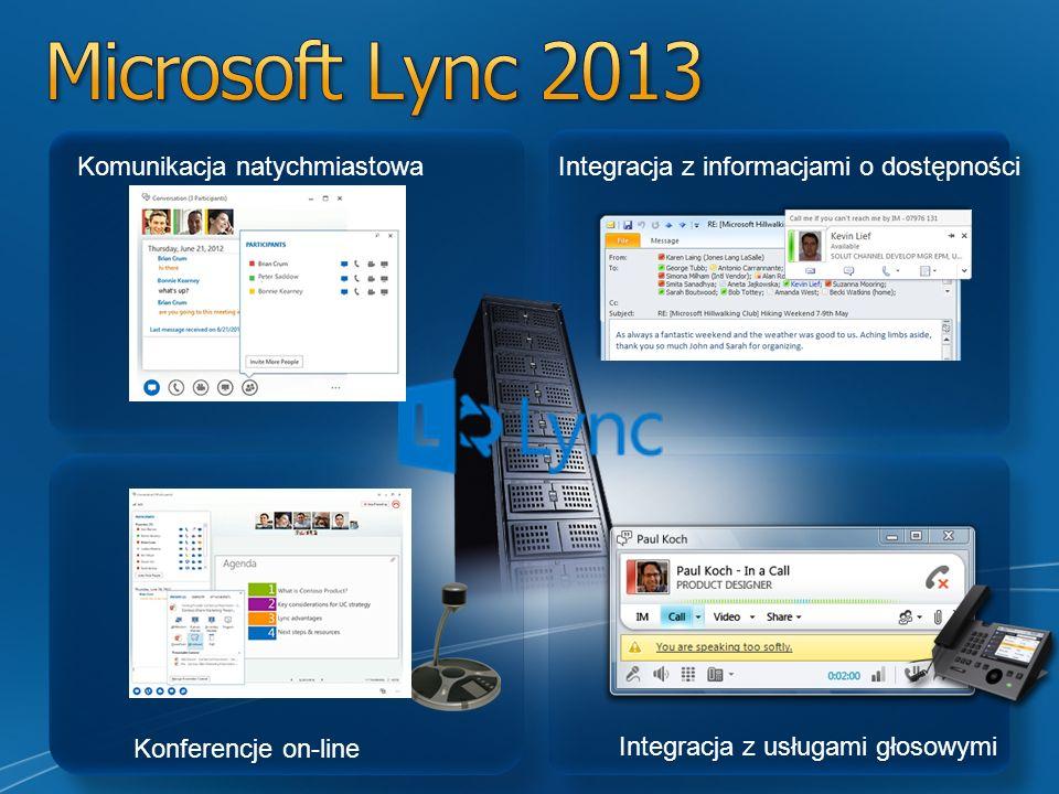 Microsoft Lync 2013 Komunikacja natychmiastowa