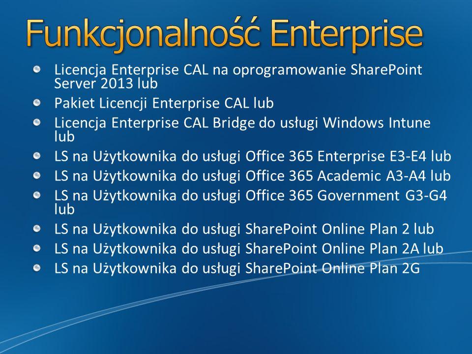Funkcjonalność Enterprise
