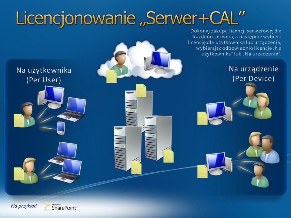 """Licencjonowanie """"Serwer+CAL"""