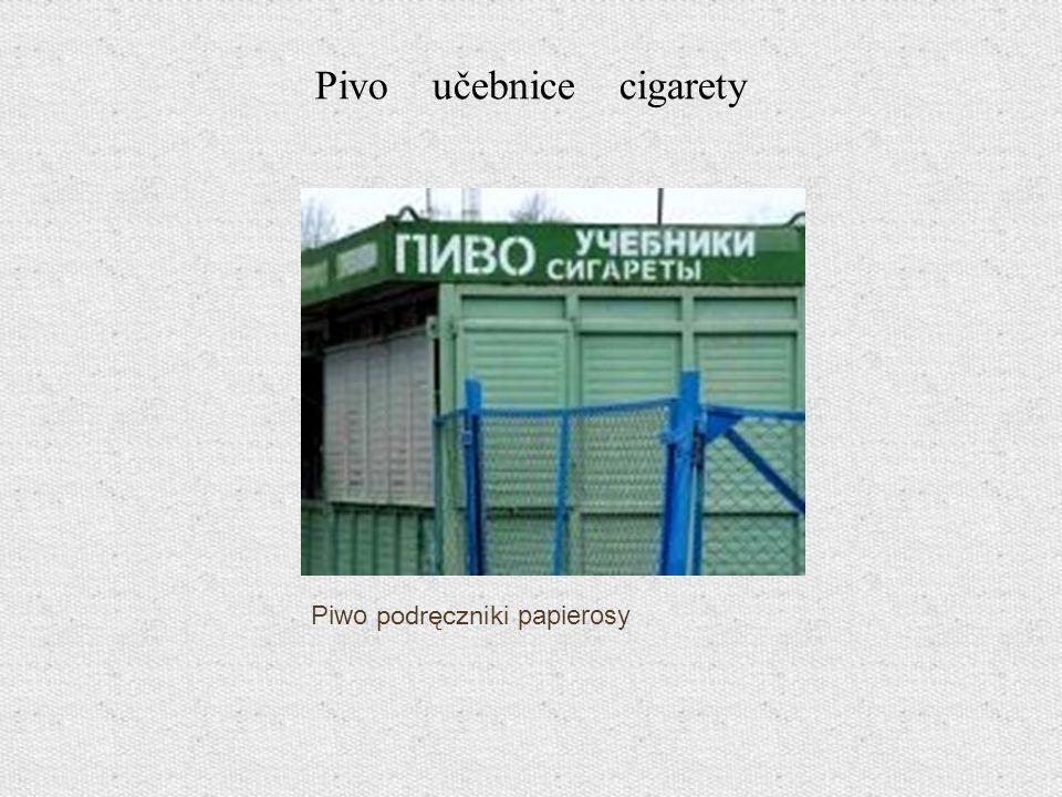 Pivo učebnice cigarety