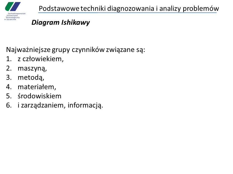 Podstawowe techniki diagnozowania i analizy problemów