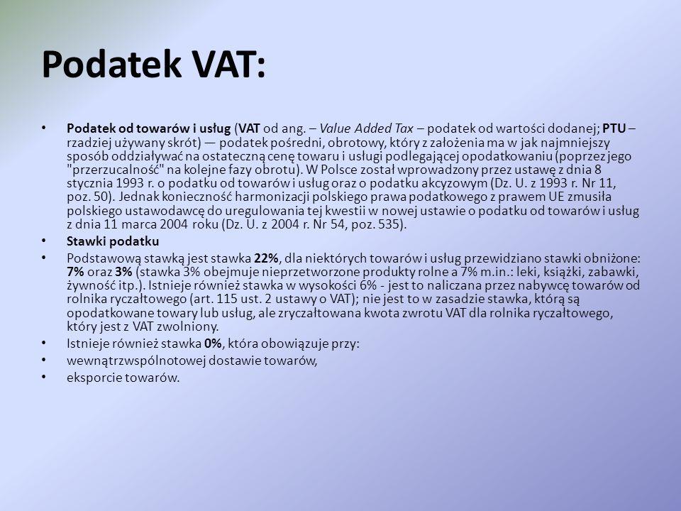 Podatek VAT: