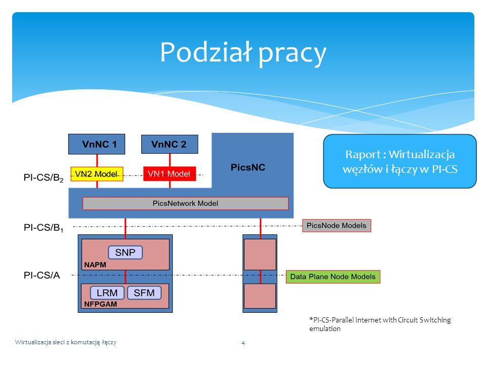 Raport : Wirtualizacja węzłów i łączy w PI-CS