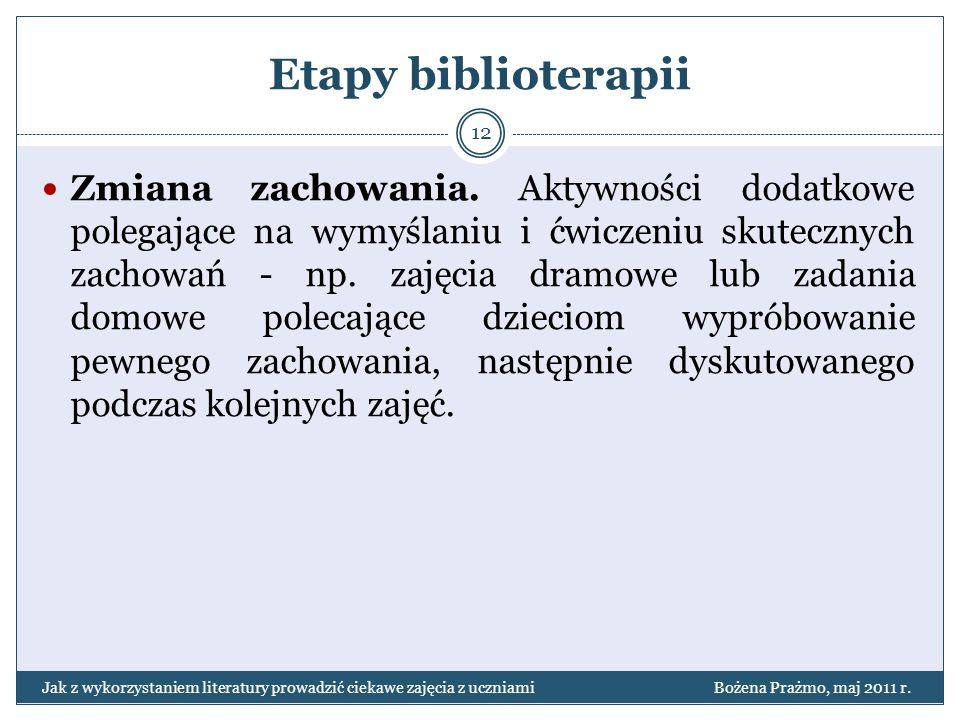 Etapy biblioterapii