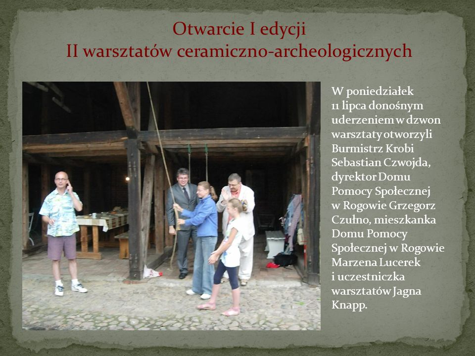 II warsztatów ceramiczno-archeologicznych