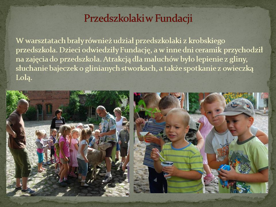 Przedszkolaki w Fundacji