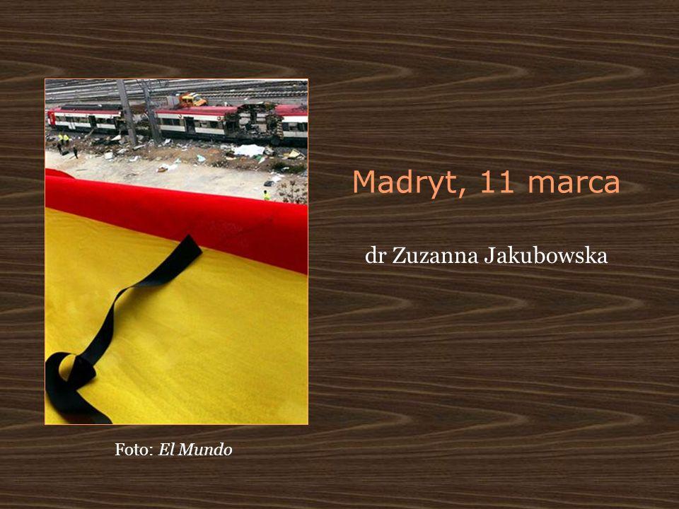 Madryt, 11 marca dr Zuzanna Jakubowska Foto: El Mundo