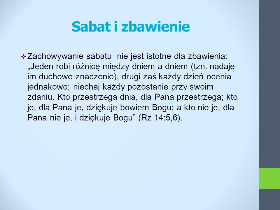 Sabat i zbawienie