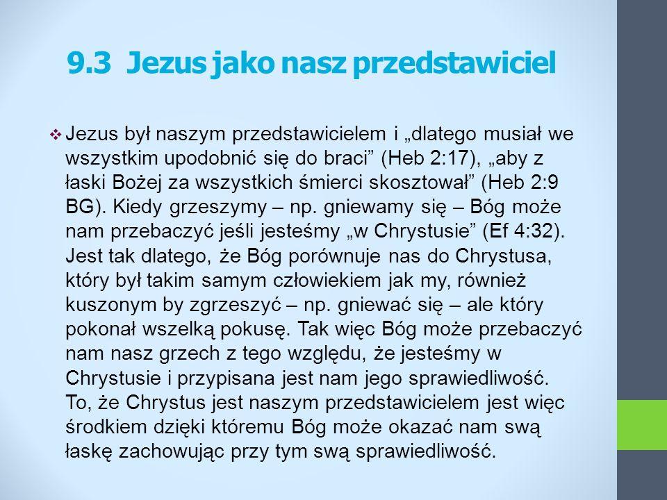 9.3 Jezus jako nasz przedstawiciel