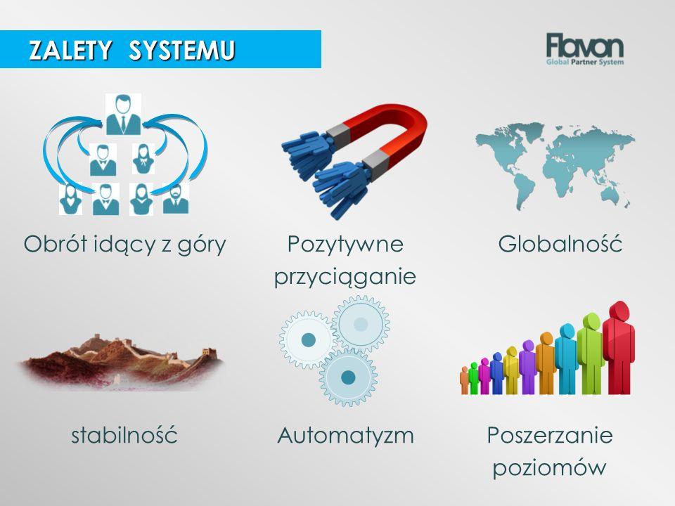 ZALETY SYSTEMU Obrót idący z góry Pozytywne przyciąganie Globalność