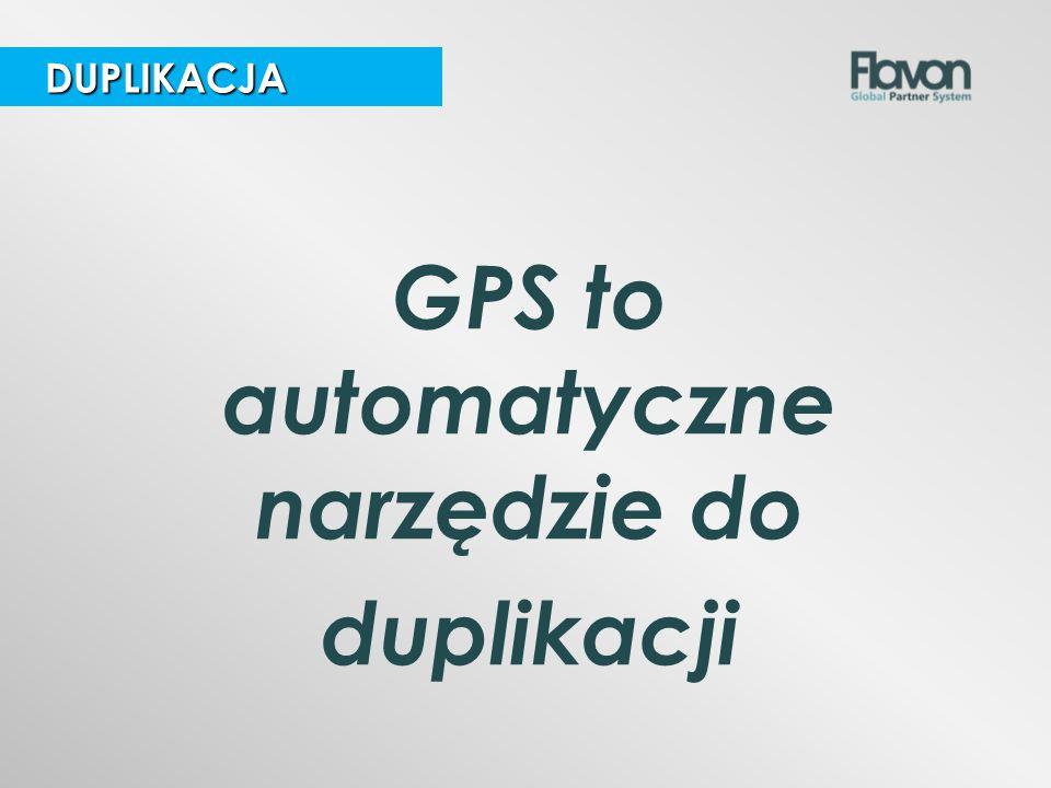 GPS to automatyczne narzędzie do duplikacji