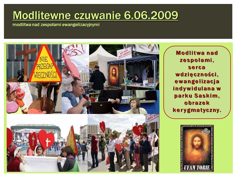 Modlitewne czuwanie 6.06.2009 modlitwa nad zespołami ewangelizacyjnymi