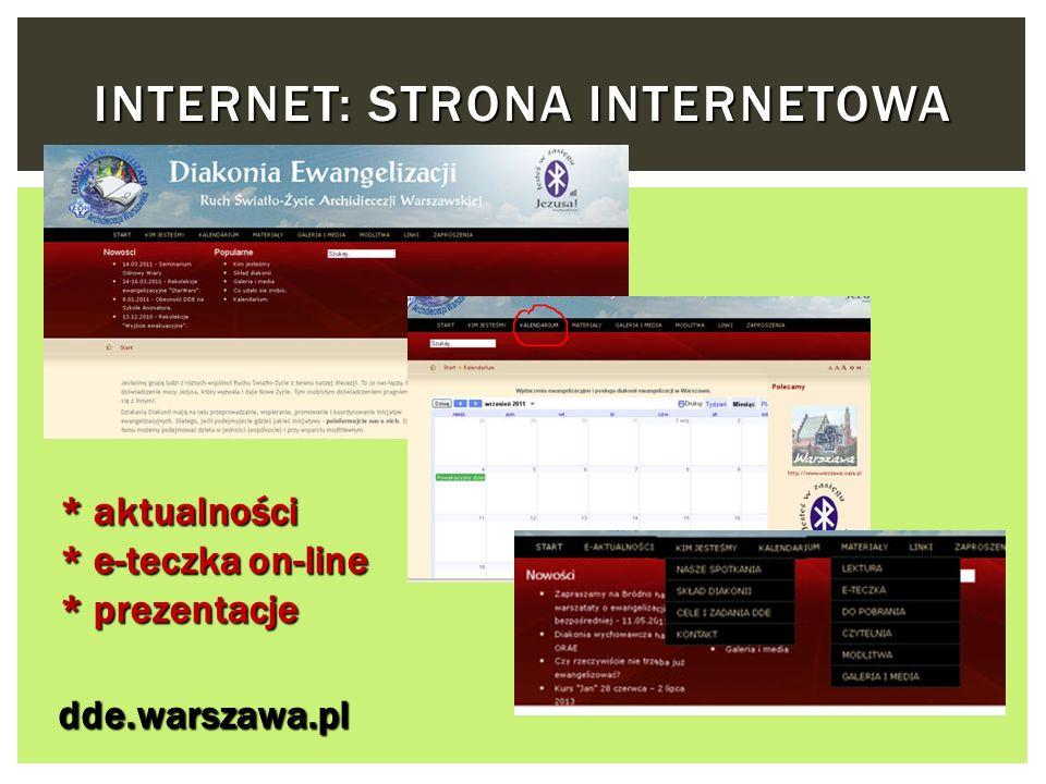 Internet: Strona internetowa