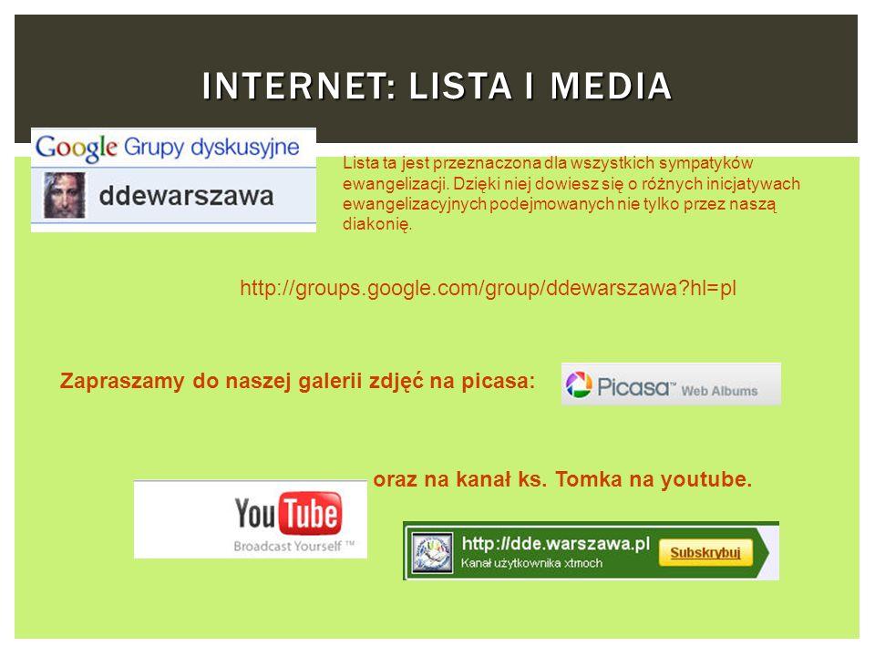 Internet: lista i media