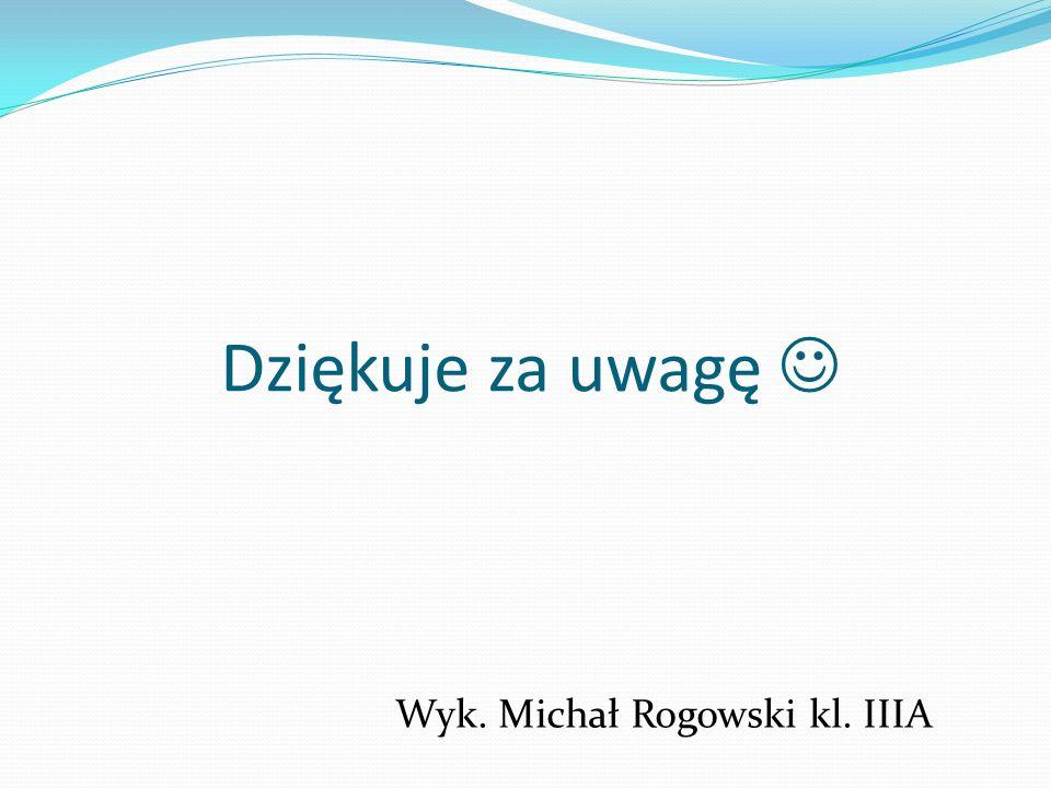 Dziękuje za uwagę  Wyk. Michał Rogowski kl. IIIA