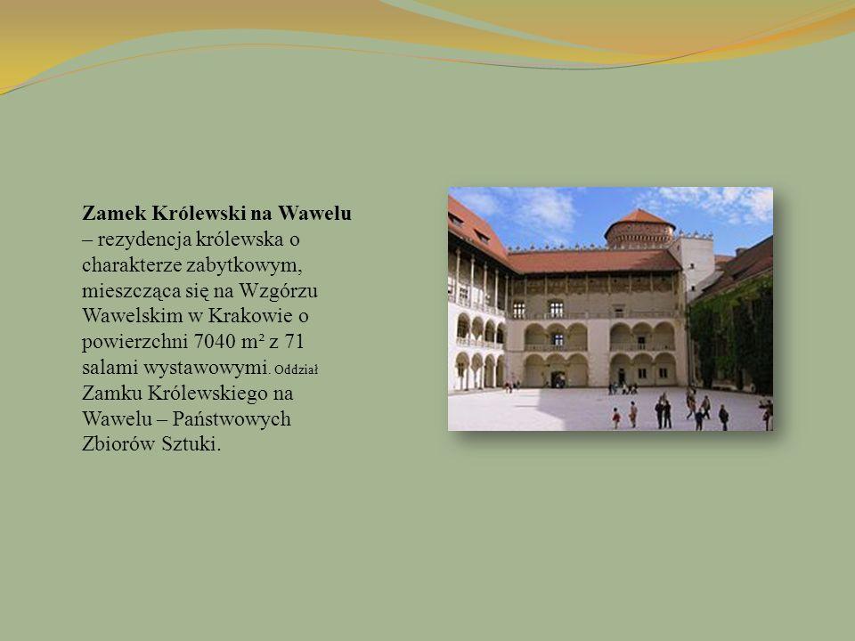 Zamek Królewski na Wawelu – rezydencja królewska o charakterze zabytkowym, mieszcząca się na Wzgórzu Wawelskim w Krakowie o powierzchni 7040 m² z 71 salami wystawowymi.