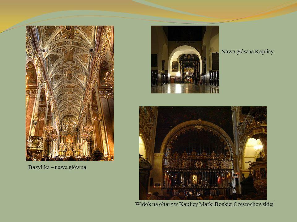 Nawa główna Kaplicy Bazylika – nawa główna Widok na ołtarz w Kaplicy Matki Boskiej Częstochowskiej