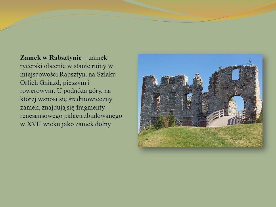 Zamek w Rabsztynie – zamek rycerski obecnie w stanie ruiny w miejscowości Rabsztyn, na Szlaku Orlich Gniazd, pieszym i rowerowym.