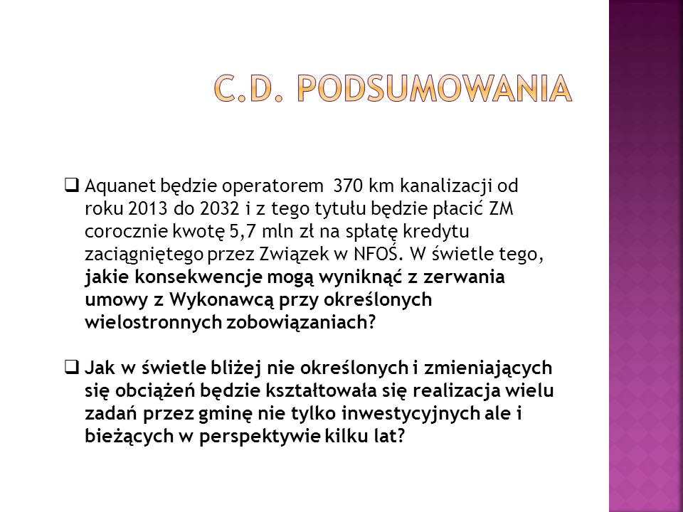 c.d. podsumowania