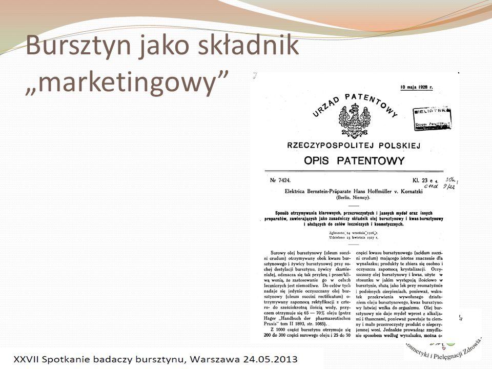 """Bursztyn jako składnik """"marketingowy"""