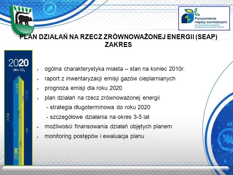 PLAN DZIAŁAŃ NA RZECZ ZRÓWNOWAŻONEJ ENERGII (SEAP) ZAKRES