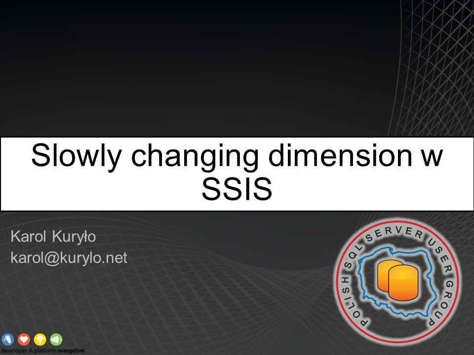 Slowly changing dimension w SSIS