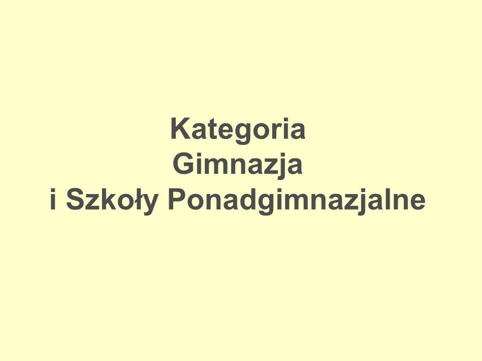 Kategoria Gimnazja i Szkoły Ponadgimnazjalne