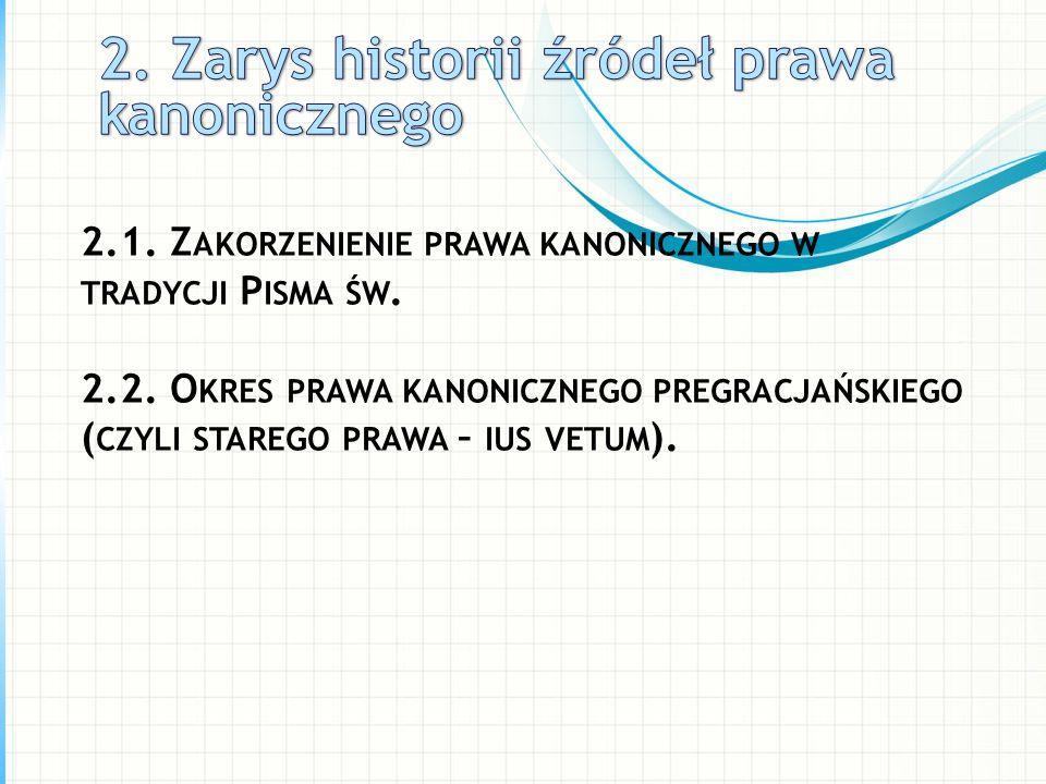 2. Zarys historii źródeł prawa kanonicznego