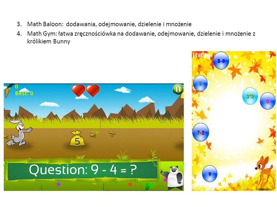 Math Baloon: dodawania, odejmowanie, dzielenie i mnożenie