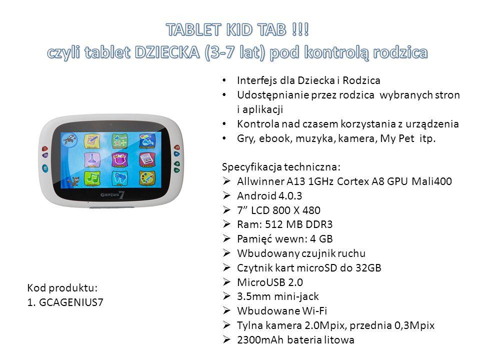 TABLET KID TAB !!! czyli tablet DZIECKA (3-7 lat) pod kontrolą rodzica