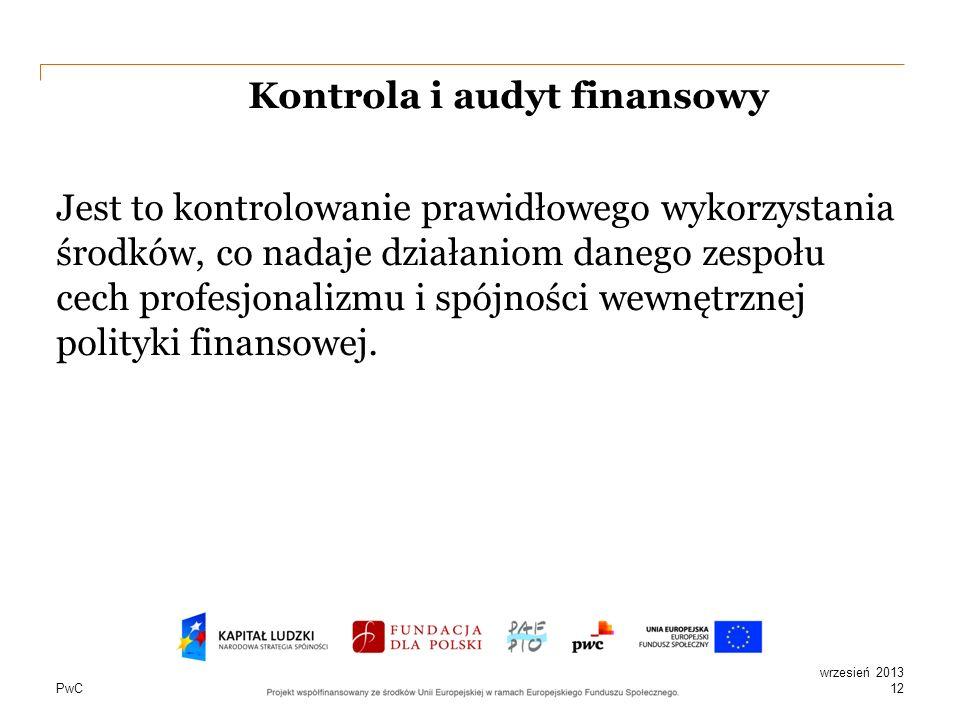 Kontrola i audyt finansowy