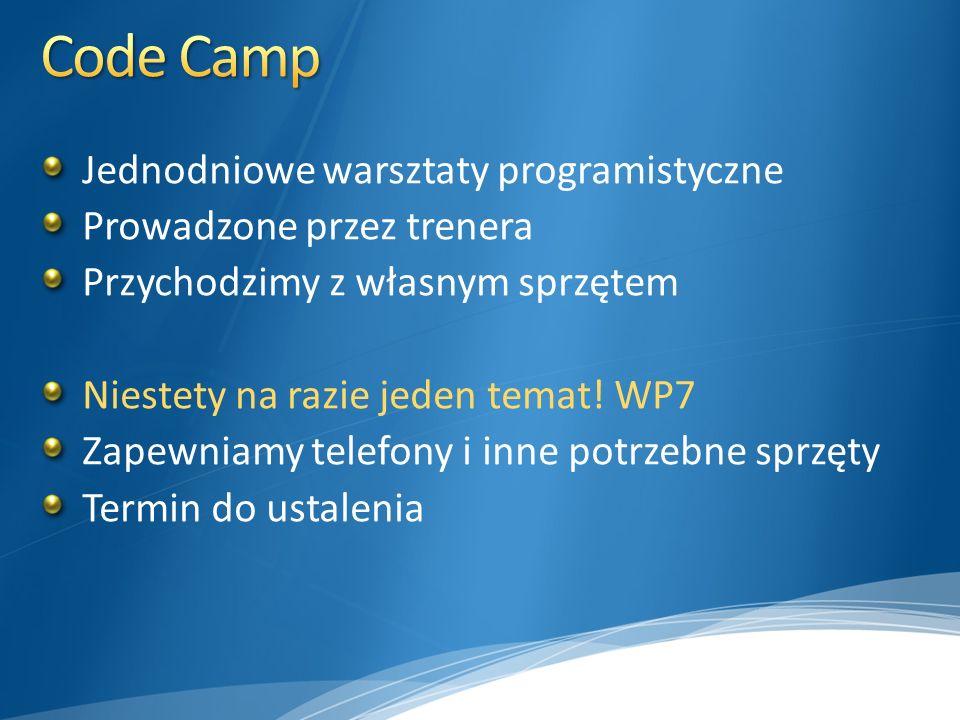Code Camp Jednodniowe warsztaty programistyczne